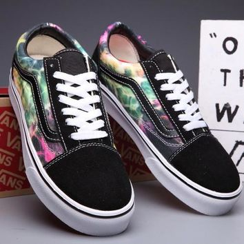 Trendsetter VANS Old Skool Canvas Galaxy Print Flats Sneakers Sport Shoes