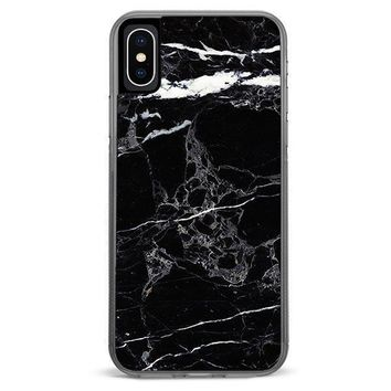 Black Marble iPhone XR case