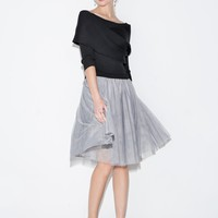 Nina Organza Sweater Dress
