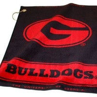 "NCAA Georgia Bulldogs Towel Woven Golf 16"" x 19"""