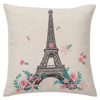 Tres Chic Eiffel Tower Pillow Cover