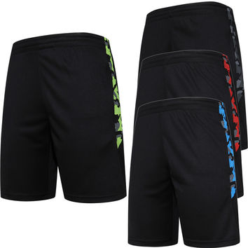 2017 Basketball Shorts Men Running training Summer Beach Sport Gym Shorts For Men Breathable loose Jogging Shorts With Zipper