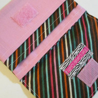 Striped Wallet with Pockets, Cute Wallets for Women, Pink, Multicolored, Striped
