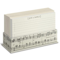 Vintage Musical Note Flat Note Card Set