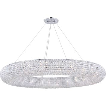 Paris 24-Light Chandelier, Chrome Finish, Clear Crystal, Royal Cut