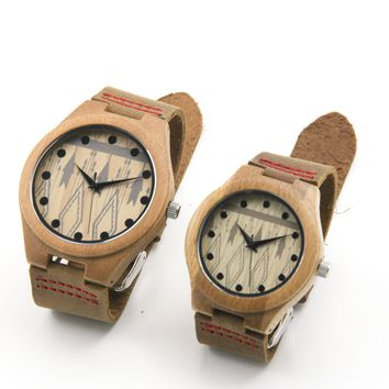 Bamboo 39/44 mm Wooden Watch W 007