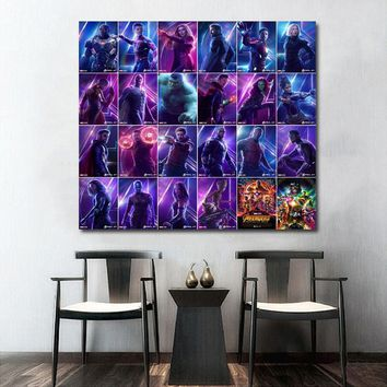 Avengers Infinity War Movie Wall Art Paint Wall Decor Canvas Prints Canvas Art Poster Oil Paintings No Frame