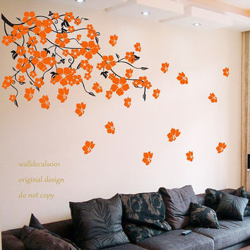 Floral wall blossom decals wall sticker