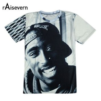 LMFON Raisevern Brand New Summer 2pac T Shirt 3D Short Sleeve O Neck Thug Life Print T-shirt