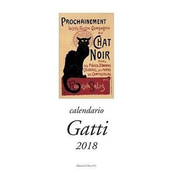 Gatti Vertical Wall Calendar (Bilingual), Cat Art by Istituto Fotocromo Italiano