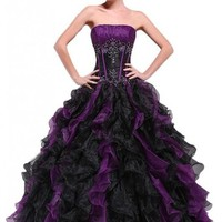 Efashion Women's Formal Wedding Quinceanera Ball Gown Evening Dress L2002