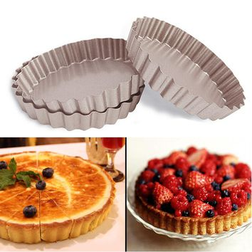 4-Inch Novelty Flower Cake Pans Non-Stick Carbon Steel Mini Tart Pans Cake Mold