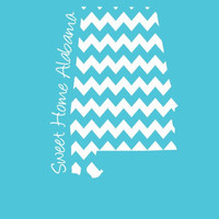 Custom Alabama Chevron Comfort Color Short Sleeve T-shirt. Show Your state pride and state love