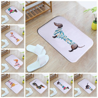 Cute Dachshunds Bathmat