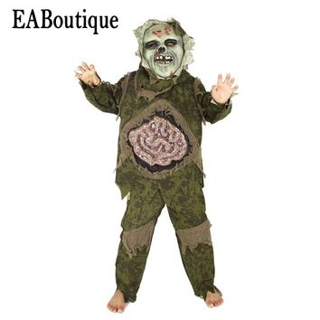EABoutique 2017 New high quanlity scary horror Intestines Monster halloween costumes for kids boys include mask outfit 3 pcs