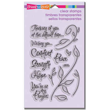 Encouraging Words Clear Stamps by Stampendous - DIY stamps - Great for decorating greeting cards