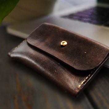 Custom Wallet/Slim Leather coin Wallet /Coin Wallet/change purse/Handmade Wallet/ Minimalist Wallet/Personalized Wallet/ Christmas Gift