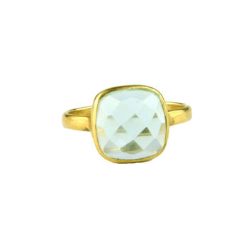 March Aqua Quartz Ring