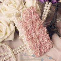 Lace Rose pearl iPhone 5 case iphone 4 case by iPhoneCasesStyle