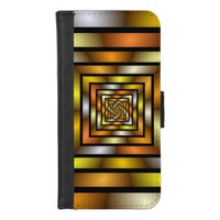Luminous Tunnel Colorful Graphic Fractal Pattern iPhone 8/7 Wallet Case