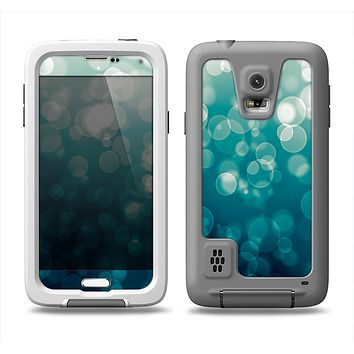 The Green Unfocused Orbs Of Light Samsung Galaxy S5 LifeProof Fre Case Skin Set