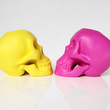 Skulls, Skull Candle, Skull, Skull Decoration, Pink Skull, Skull Sculpture, Skull Figurine, Skull Home Decor