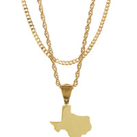 Mister *State TX Necklace - Gold
