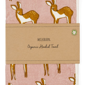 Pink Deer Hooded Towel