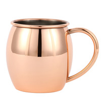 2015 newstyle16oz moscow mule copper mug- copper plated on FDA level stainless steel-Beer cup-copper cup& solid stainless handle