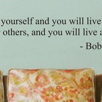 live for yourself BOB MARLEY quote decal by dabbledownJunior
