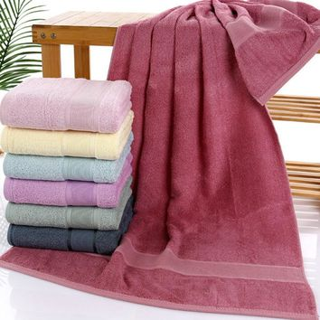 Simanfei 2017 Genuine Striped Towels High Quality 70cm*140cm Cotton Soft Brand Bath Towel Toalla Playa 400g