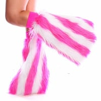 Pink And White Stripe Fluffies