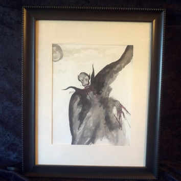 Nosferatu Original Watercolor