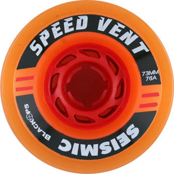 Seismic Speed Vent 73mm 76a Trans Orange/Red Longboard Wheels