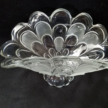 Pressed Glass Fruit Bowl  (884)