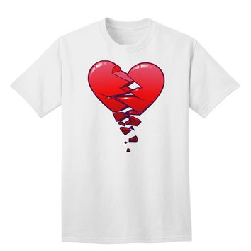 Crumbling Broken Heart Adult T-Shirt