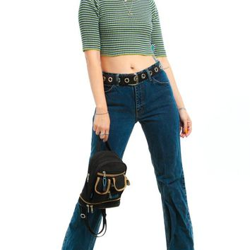Vintage 90's MC 5-Pocket Distressed Mom Jeans - S/M