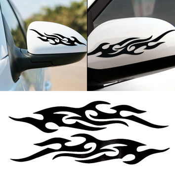 1 piece Car styling For ford Motorcycle Flame sticker Baby on board Reflective stickers on cars Car-covers accessories 31cm