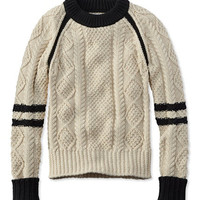 Women's Signature Cotton Fisherman Sweater, Colorblock | Free Shipping at L.L.Bean.