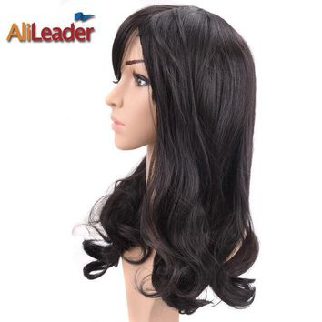LMF8UH AliLeader Hair Products Short Long Medium Length Wig For Black And White Women, Stock Clearance Synthetic Wigs Heat Resistant