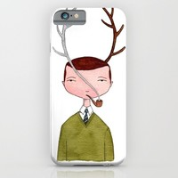 One real antler, one imagined iPhone & iPod Case by Marc Johns