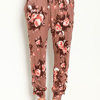 FLORAL TRIBAL JOGGER PANTS