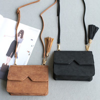 Tassels Korean Vintage Mini Bags Stylish Shoulder Bags [4915825924]