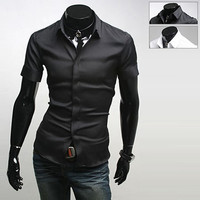 Slim Short Sleeve Dress Shirt