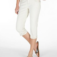 Women's Virgo Stretch Cropped Pant in Cream by Daytrip.