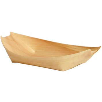 Wooden Disposable Food Boats  5% Off Auto renew
