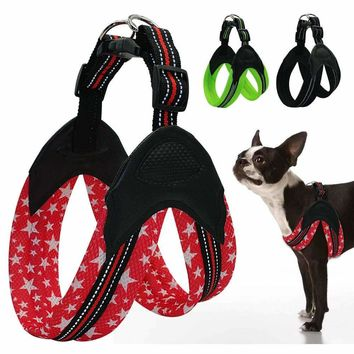 Reflective Dog Harness Security Padded Mesh Soft Dog Vest For Medium Large Dogs Chest For 62-69cm Red Green Black