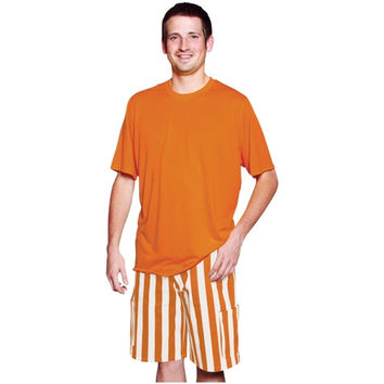 Game Bibs Cargo Shorts - Burnt Orange/White