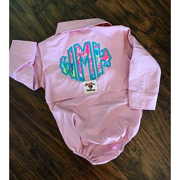 Lilly Pulitzer Monogrammed Baby Fishing Onesuit/Shirt