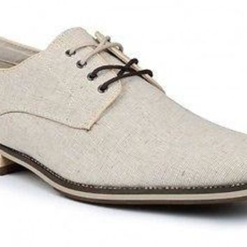 New Giorgio Brutini Vick Natural Chino Linen men's Shoes
